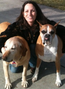 Finnegan, Copper & me enjoying an ultra-warm January day.